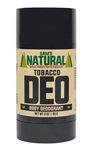 - Sam's Natural Deodorant Stick - Tobacco, Aluminum Free, Vegan, Cruelty Free, 3 oz