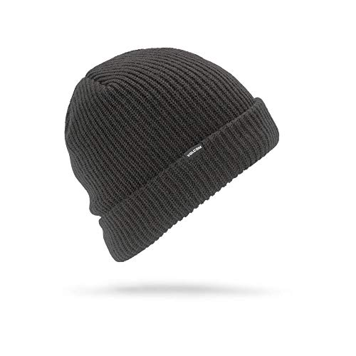 Volcom Men's Sweep Lined Snow Beanie, Black, One Size Fits All