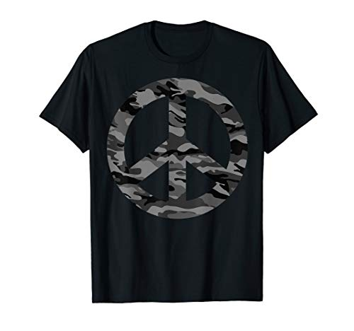 Cool Peace Sign Camouflage T-Shirt For Military Boys & Girls (Peace Sign Camouflage)