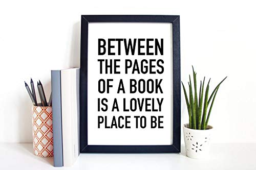 Rainbow Store Between The Pages of A Book is A Lovely Place to Be   Motivational Poster, Printable Quote Home Decor, Wall Print Active
