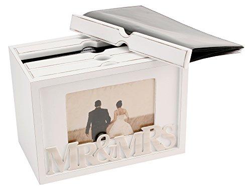 Modern 'Mr & Mrs' White Wooden Photo Box By Haysom - Wedding Wooden Album