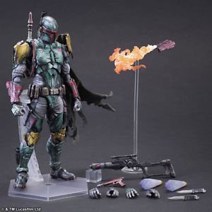Play Arts Boba Fett Action Figure New In Box