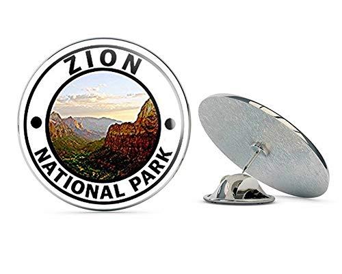 NYC Jewelers Round Zion National Park (Hike Travel Utah ut rv) Metal 0.75