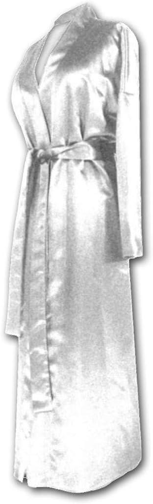 Sanctuarie Designs Womens White Satin Plus Size Supersize Robe