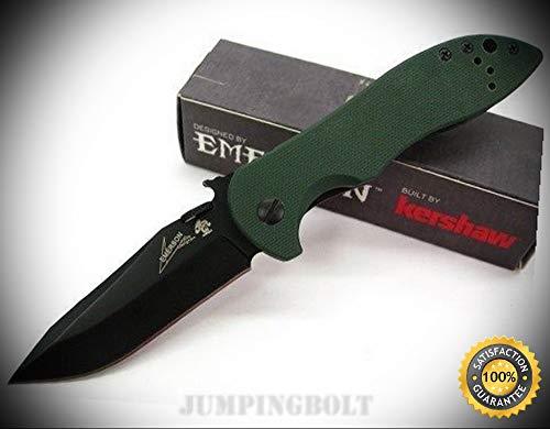 Emerson Olive Drab G-10 CQC-5K Straight Black Folding Knife 6074OLBLK - Premium Quality Very Sharp EMT EDC