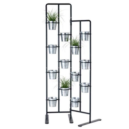 Vertical Metal Plant Stand 13 Tiers Display Plants Indoor or Outdoors on a Balcony Patio Garden or Use as a Room Divider or Vertical Garden Inside Your Home or Great for Urban Gardening (Dark Gray) by brightmaison
