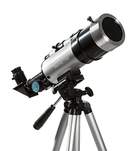 Twinstar EclipseFINDER 60mm Compact Refractor Solar Eclipse Telescope, Silver