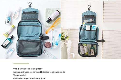 化粧品袋 ミニポーチ化粧品袋ウォッシュバッグ化粧品トラベルポーチは女の子の気質の女性のためのジッパー収納袋の主催者を持っています 旅行化粧収納ボックス (Color : Navy)