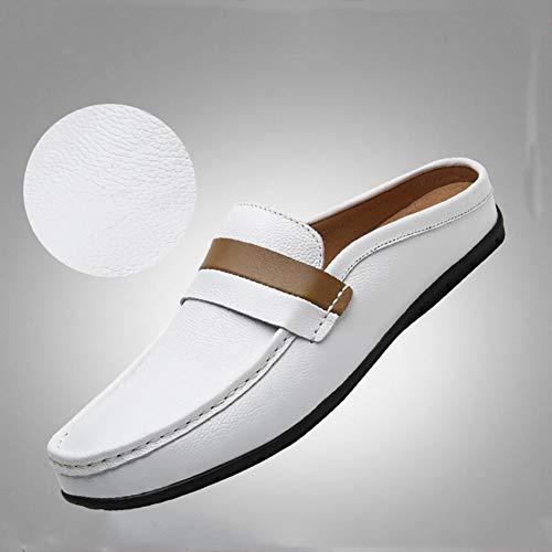 Zapatos Negocios Hombre Guisantes White Hombre Yuan Mocasines De AwdTqq