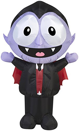 Gemmy 3.5' Airblown Little Dracula with Big Eyes Halloween Inflatable