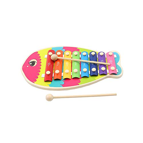 Time Circle Rhymes (Dall Xylophone Wooden Cartoon Standing Musical Xylophone Educational Knocking Music Instrument Toy with Knocking Stick)