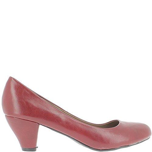 Escarpins femme rouges grande taille à talons de 6,5cm