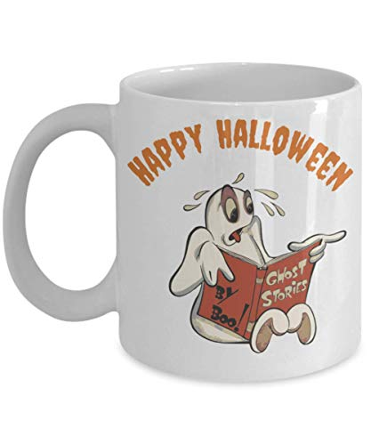 Halloween Happy Mug Ghost Scary Stories Coffee Funny