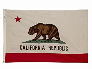 4x 6California bandera del estado americano hecho Superior al aire libre nailon
