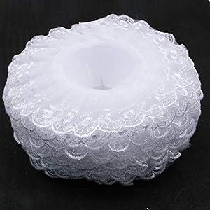 JETEHO Pack of 10 Lace Bouquet Collar,Lace Collar Bouquet Holder Wedding Bridal Bouquet Collar White Lace Decoration Bouquet Holder 3