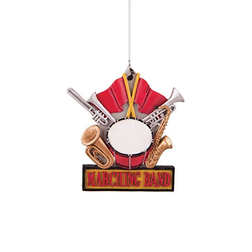 Ornament Band - 4-in. Resin Ornament, Marching Band