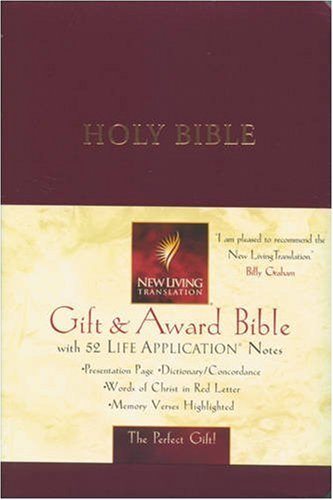Deluxe Catholic Gift Bible - Gift and Award Bible (New Living Translation - NLT) Burgundy Cover