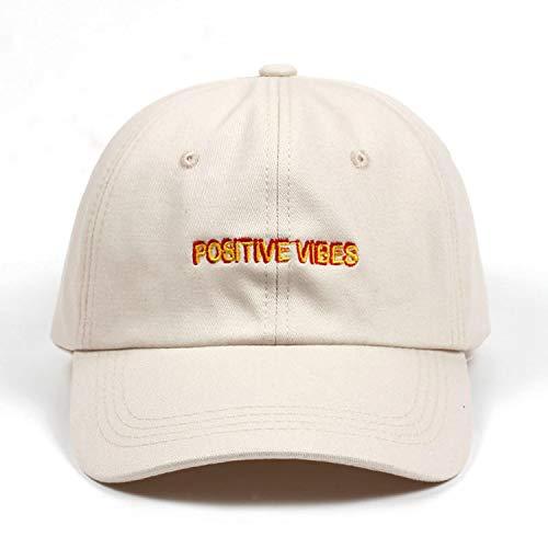 FUZE New Positive Cotton Embroidery Baseball Cap Men Women Summer Fashion Dad Hat Hip-Hop Caps Beige