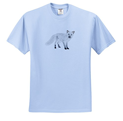 Price comparison product image Boehm Graphics Animal - Arctic Fox Looking - T-Shirts - Youth Light-Blue-T-Shirt Med(10-12) (ts_216515_61)