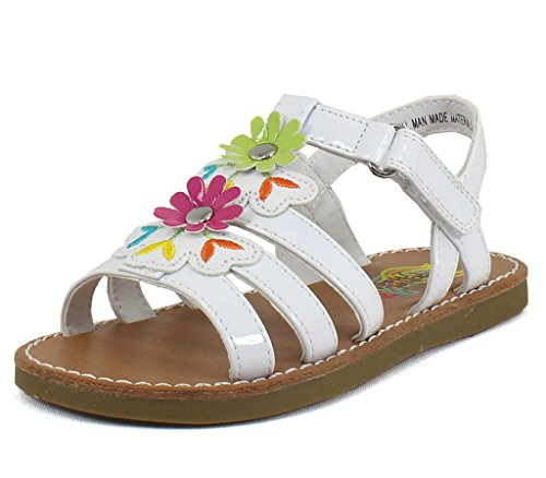 Rachel Shoes Girls Viola White Multi Synthetic Sandals 8 M U