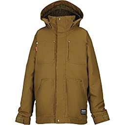 Burton Barnyard Insulated Jacket - Boys\' Hickory, S[7/8]