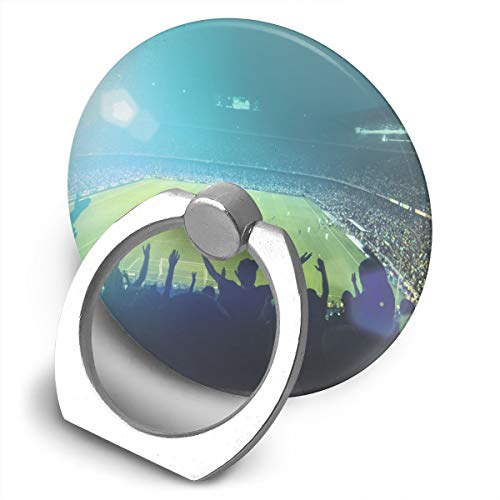 Round Finger Ring Cell Phone Holder Football Stadium 360 Degree Rotating Stand Grip Mounts