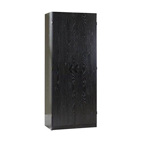 Sauder Storage Cabinet, L: 29.61'' x W: 16.02'' x H: 71.50'', Ebony Ash finish by Sauder
