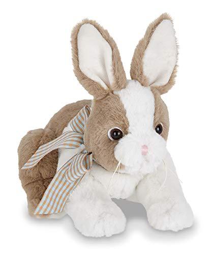 Bearington Toffee Brown & White Plush Stuffed Animal Bunny Rabbit, 10 inches]()