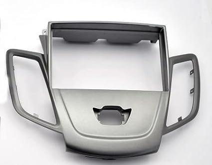 mascherina autoradio 2din fiesta 2008-2016 colore argento opaco