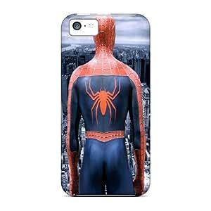 New Design Shatterproof VtZ10258lfpN Cases For Iphone 5c (spiderman)
