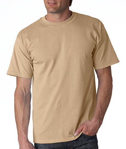 Gildan G200 - 6.1 Ounce Ultra Cotton Tee 100% Cotton T-Shirt. 2000 in 68 Colors TAN Size X-Large
