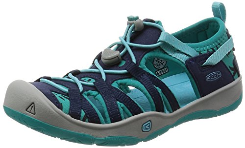 KEEN Unisex Moxie Sandal, Dress Blues/Viridian, 5 M US Big Kid