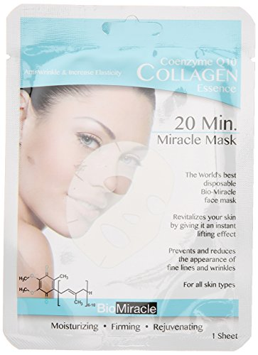 41pWwTxSVyL Bio-Miracle Anti-Aging and Moisturizing Face Mask, Collagen, 5 Count