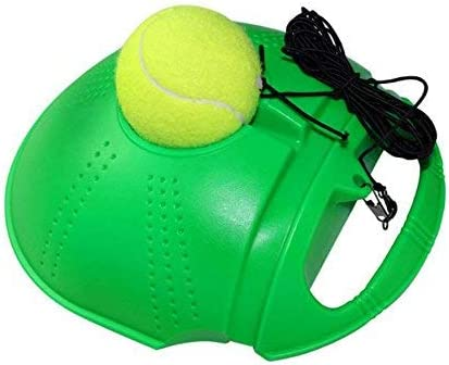 Coobno Tennis Trainer Rebound Baseboard Tennis Ball Self Tennis Training Tool Ball Back Training Gear Self Tennis Portable Exercise Baseboard Suitable For Beginner Green Amazon Co Uk Luggage