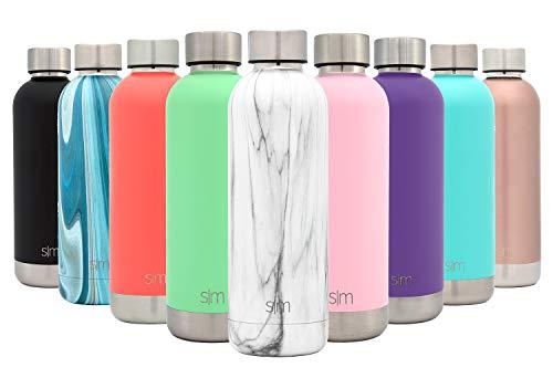 (Simple Modern 17oz Bolt Sports Water Bottle - Stainless Steel - Double Wall Vacuum Insulated - Leak Proof Bottle Pattern: Carrara)