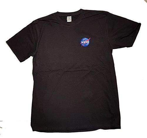 Nasa Con Logo Il Distintivo Meatball Mens Licenza Maglietta Di Premium ricamato Black R1UwOq