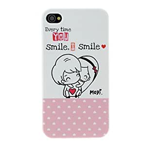 Cute Cartoon Lover Couple Pair Hard Case for iPhone 4/4S (2 Packed)