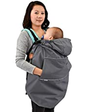 JAN & JUL Cozy-Dry Baby Rain Cover Universal for All Baby Carriers and Strollers | Waterproof Shell with Fleece Lining