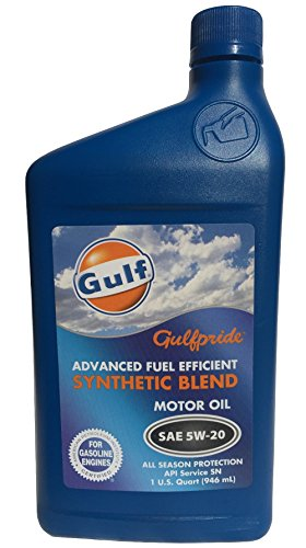 Gulfpride Advanced Fuel Efficient Synthetic Blend Motor Oil 5W-20 (12/1qt)