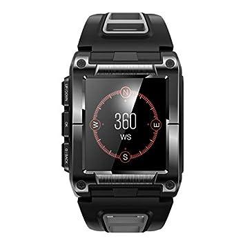 Hauggen1 GPS Reloj para Correr Deportes al Aire Libre Reloj de Acero Inoxidable Reloj multifunción Modo