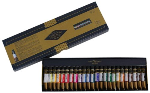 Mission Gold Water Color Set, 24 Colors