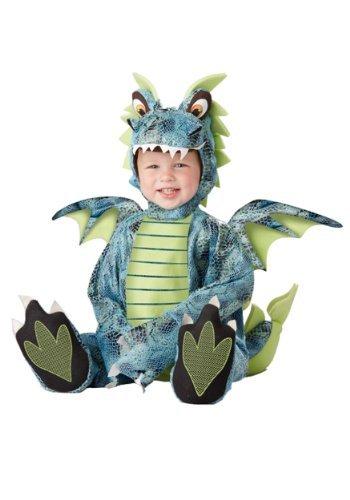 Kid Dragon Costumes (California Costumes Men's Darling Dragon Infant, Blue/Lime, 18-24)