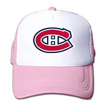 A-Joking Unisex Casual Baseball Cap Trucker Mesh Hat Adjustable - Montreal Canadiens One Size