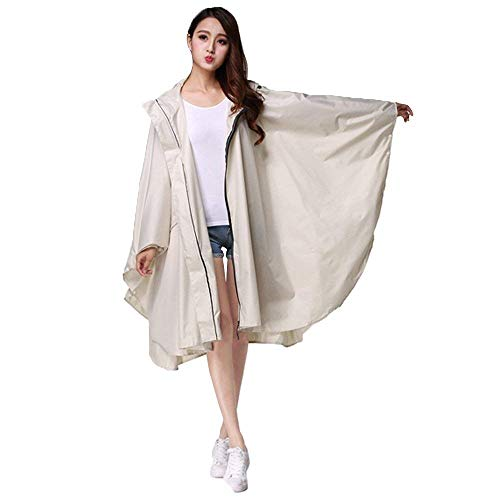 Yasminey Yasminey Yasminey Rainy Rainy Rainy Rainy Chic Giovane Bianca da Long Waterproof in Outdoor Coat Riding Poncho Donna Viaggio Abbigliamento Raincoat Rainwear Hooded RrRIqwp