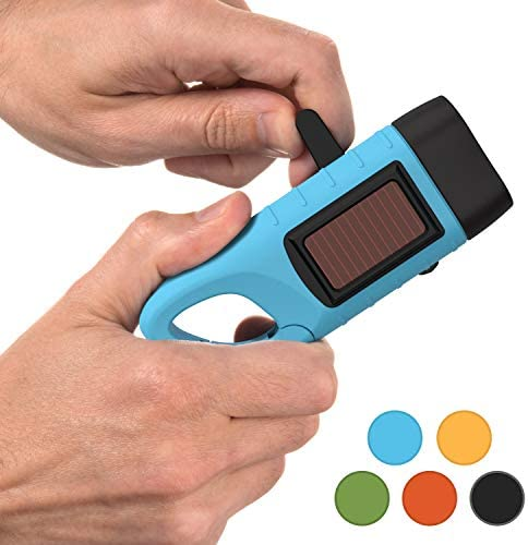 Crank Solar Powered Rechargeable Flashlight product image