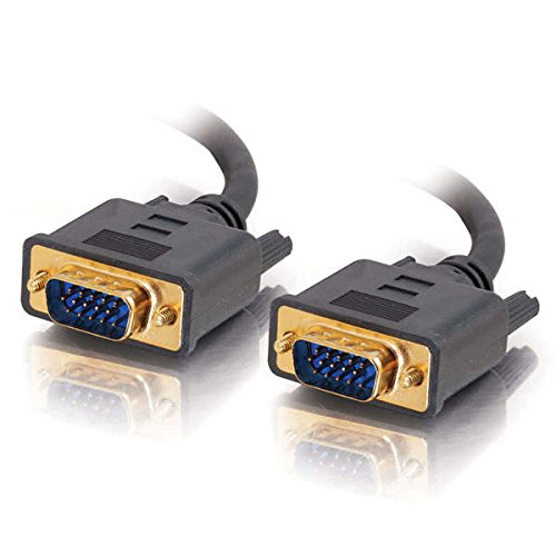 C2G 28245 VGA Cable - Flexima VGA Monitor Cable M/M, in-Wall CL3-Rated, Black (25 Feet, 7.62 Meters)