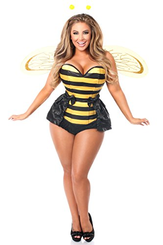 Size Bee Plus Costumes Queen (Daisy Corsets Plus Size 5 PC Queen Bee Corset Women's)