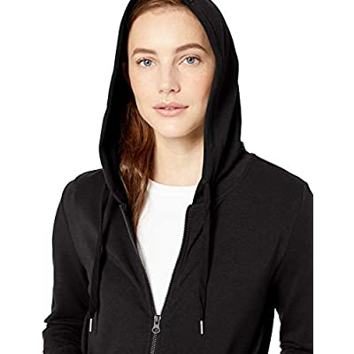 Brand - Daily Ritual Women's Terry Cotton and Modal Full-Zip Hooded Sweatshirt: Clothing