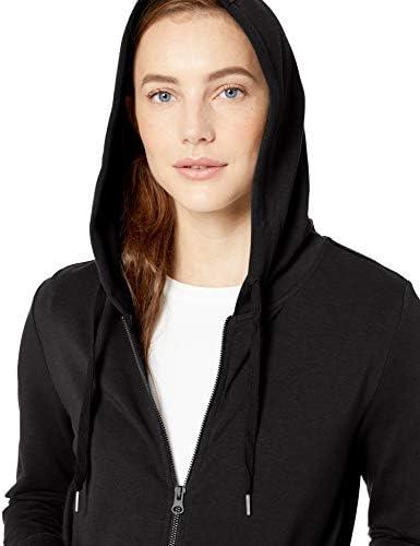 Amazon Brand - Daily Ritual Women's Terry Cotton and Modal Full-Zip Hooded Sweatshirt