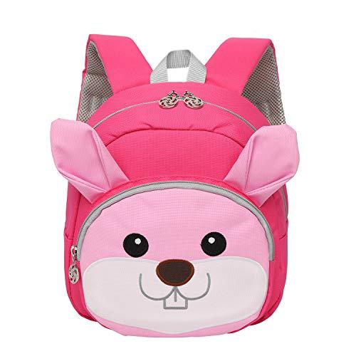 Lightweight Kid's Backpack,Breathable School Backpack, Cute Rabbit Kindergarten Rucksack,Stress Relief Book Bag Designed for Little Girls 1-3 Years Old